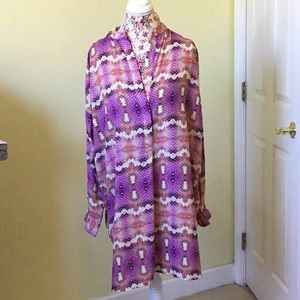 NWT Multicolor Echo caftan coverup size large